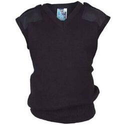 Wool Mix Vest - Patches & Epaulettes to shoulders